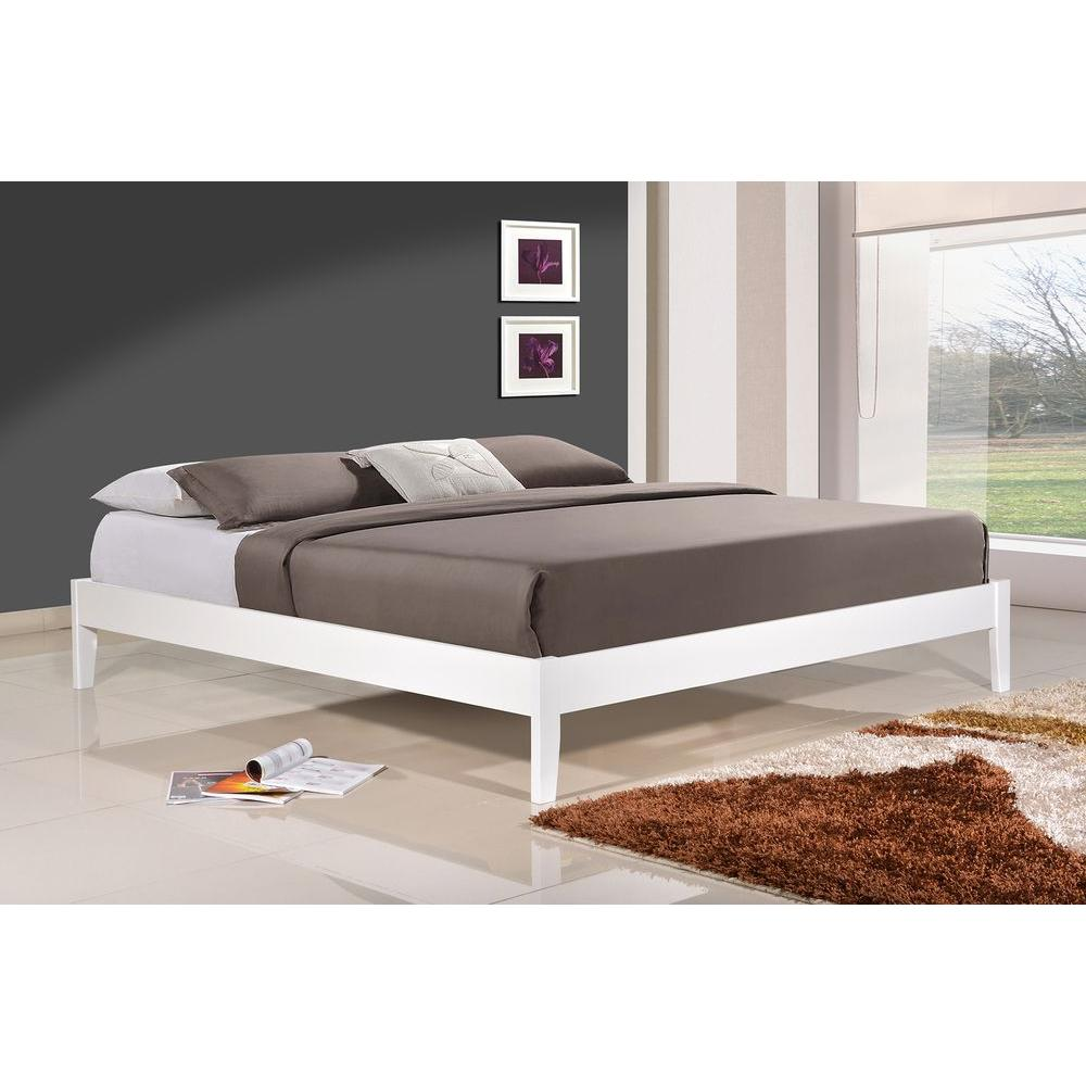 White Platform Bed Without Headboard Altozzo Manhattan Queen Wood Platform Bed Alt Q3342 Gry The Home