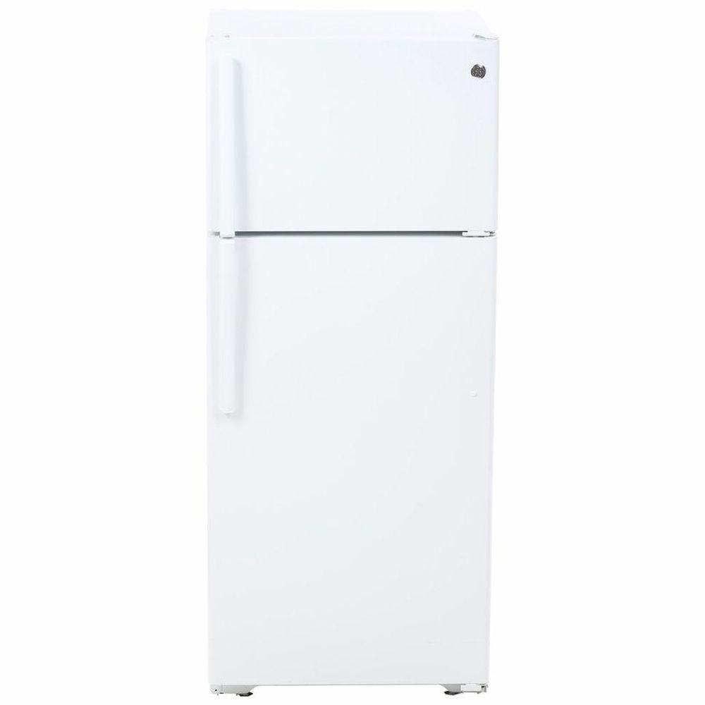 Home Depot Fridges Canada Ge 17 5 Cu Ft Top Freezer Refrigerator In White