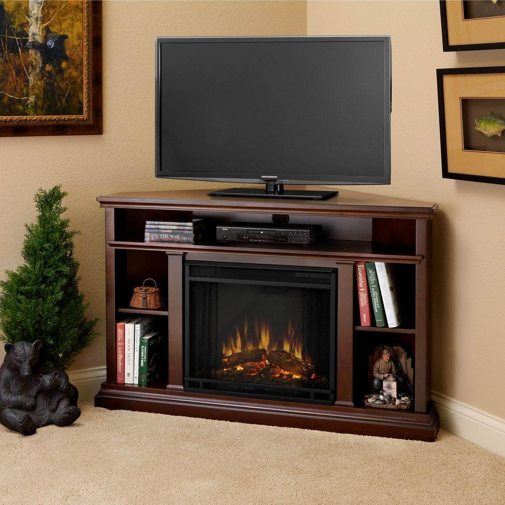 Fireplace Tv Stand Home Depot Real Flame Churchill 51 In Corner Media Console Electric Fireplace In Dark Espresso