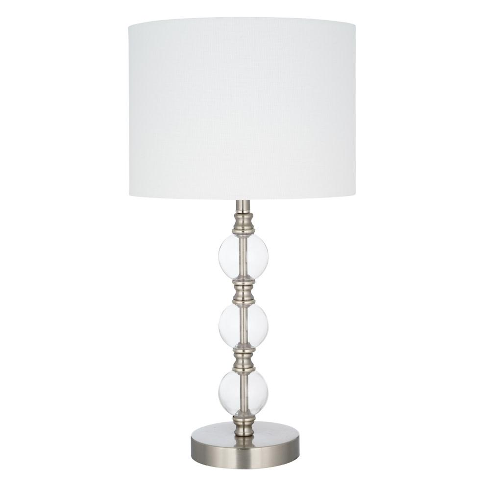 Modern Lamps Led Cresswell 23 25 In Clear Glass Modern Table Lamp And Led Bulb