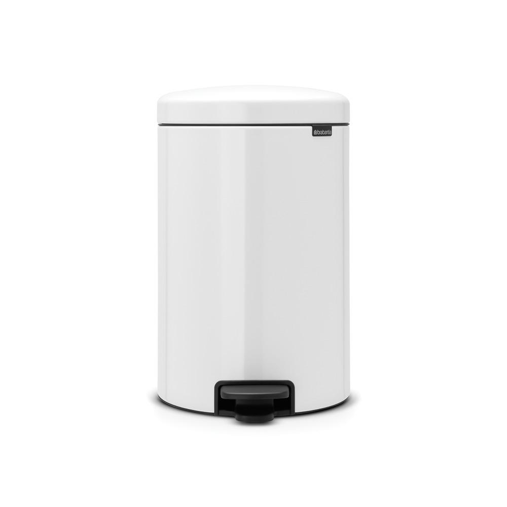 Small White Trash Can With Lid Brabantia 5 3 Gal White Steel Step On Trash Can