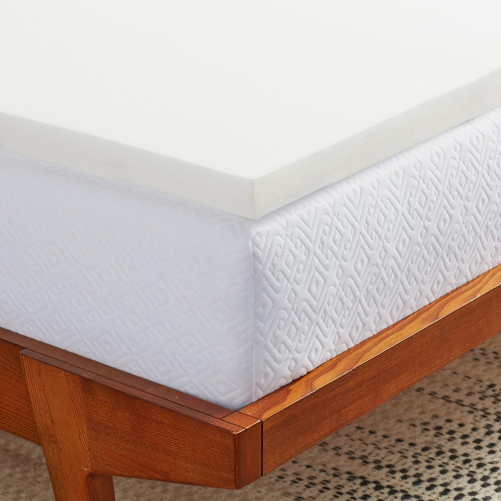 Extra Firm Mattress Topper Lucid 2 In Full Foam Mattress Topper Lu20ff20rt The Home Depot