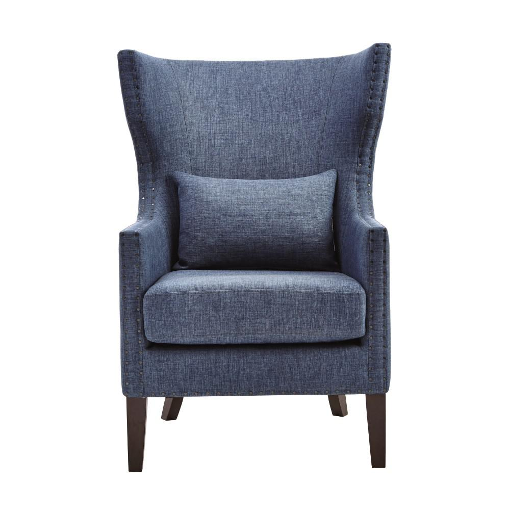 Arm Chairs Home Decorators Collection Bentley Capri Blue Upholstered Arm Chair