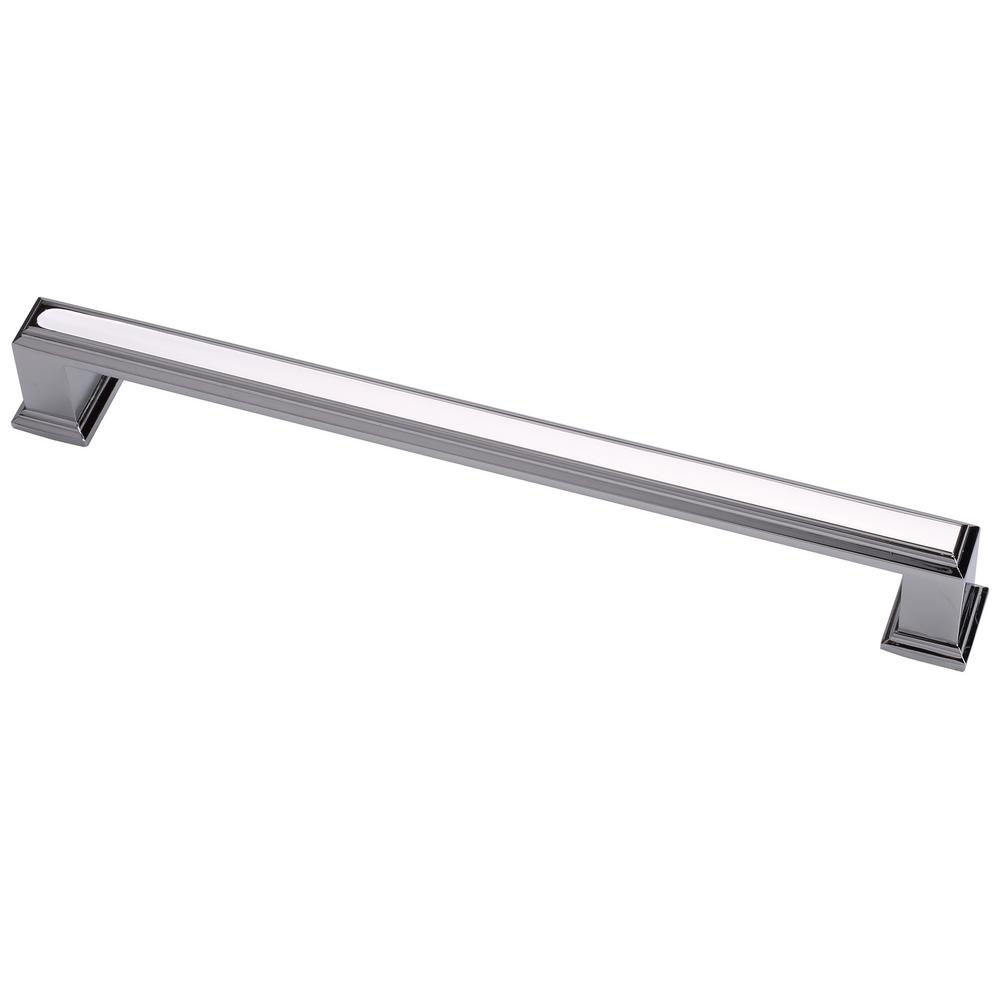 Modern Chrome Cabinet Pulls Octa 7 1 2 In 192 Mm Center To Center Ctc Modern Cabinet Pull 5 Pack