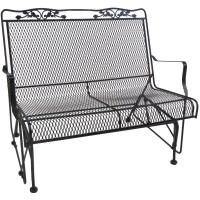 Metal Glider Sofa Powdercoated Red Vintage Metal Patio