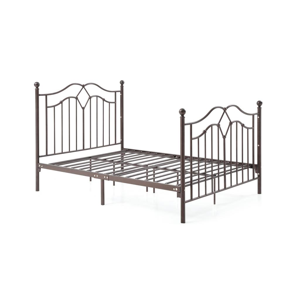Metal Bed Headboards Hodedah Complete Metal Bronze Twin Bed With Headboard Footboard Slats And Rails