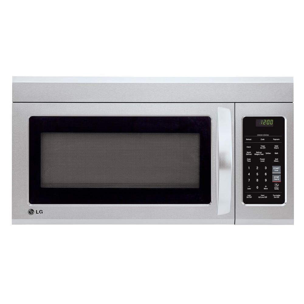 In Home Electronics Lg Electronics 1 8 Cu Ft Over The Range Microwave In Stainless Steel