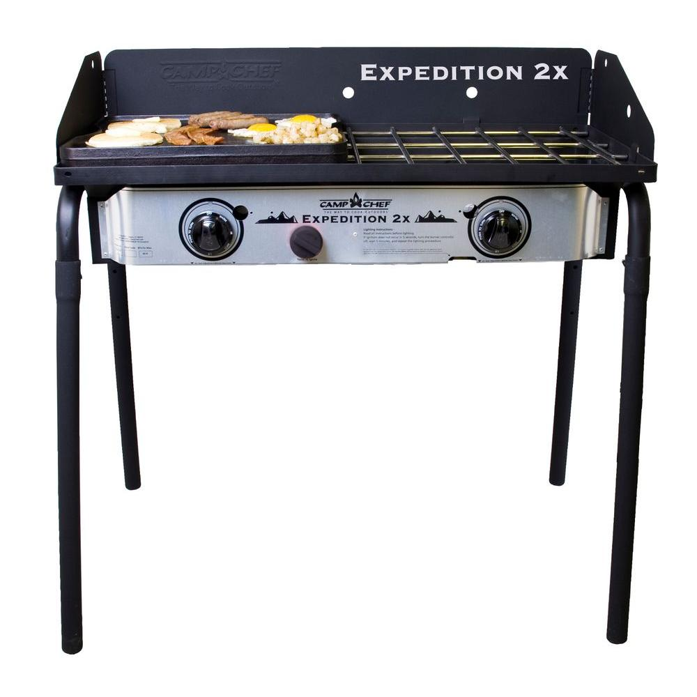 Grill Camping Camp Chef Expedition 2x 2 Burner Propane Gas Grill In Silver