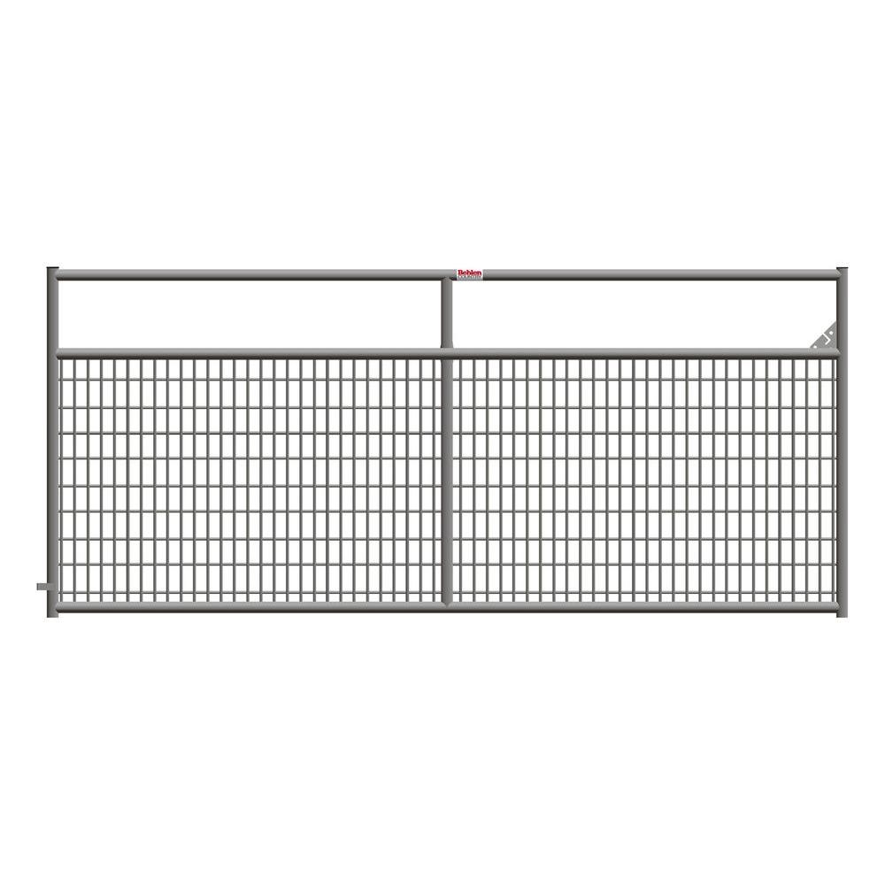 Diy Rolling Fence Gate Ranch Master 120 In X 50 In Galvanized Tube Gate