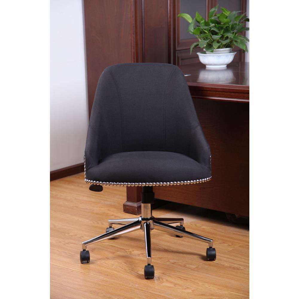 Desk Seat Boss Peacock Blue Carnegie Desk Chair