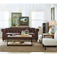 Home Decorators Collection Gordon Brown Leather Sofa ...