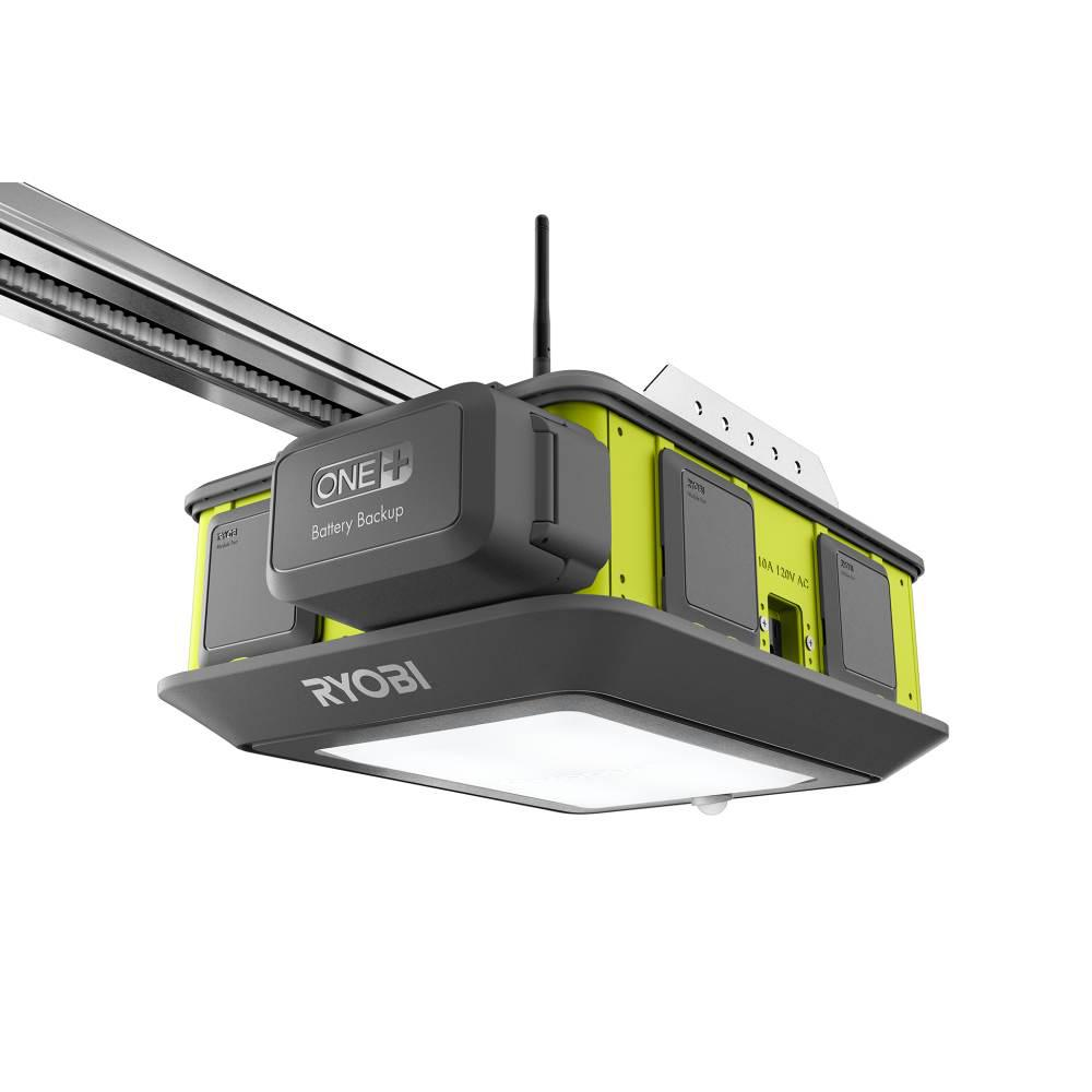 Ryobi Garage Door Fan Ryobi Ultra Quiet 2 Hp Belt Drive Garage Door Opener With Battery Backup Capability