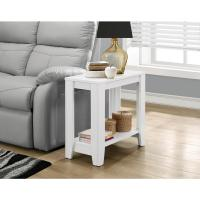 Monarch Specialties Glossy White End Table-I 3008 - The ...