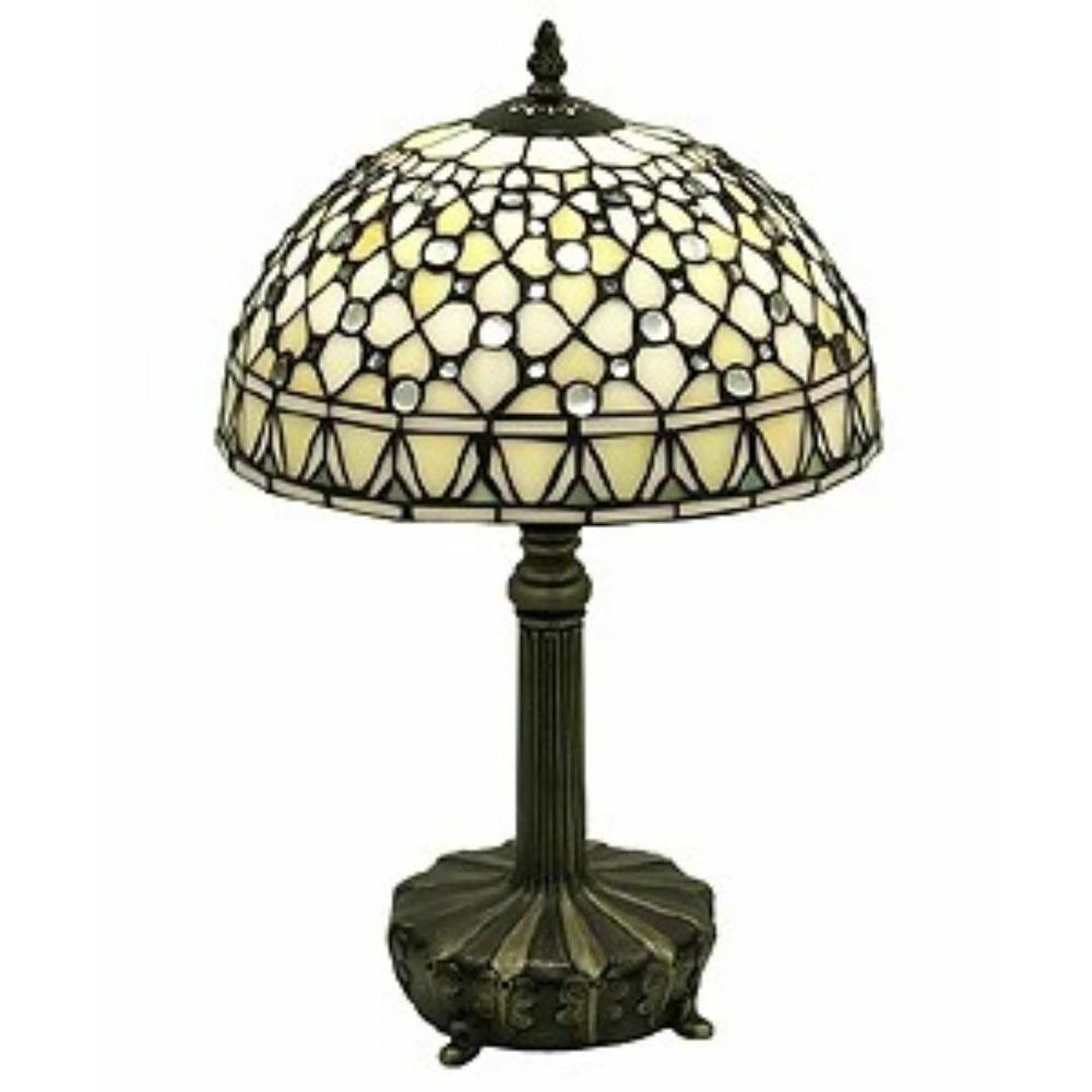 Warehouse Table Warehouse Of Tiffany Jewel 19 In Brown Table Lamp