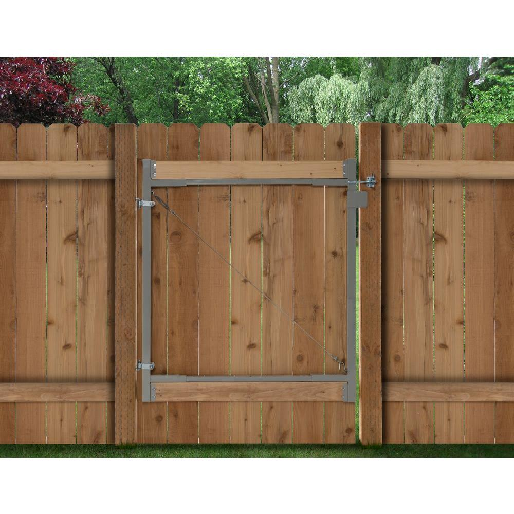 Diy Rolling Fence Gate Adjust A Gate Consumer Series 36 In 72 In Wide Steel Gate Opening Gate Frame Kit
