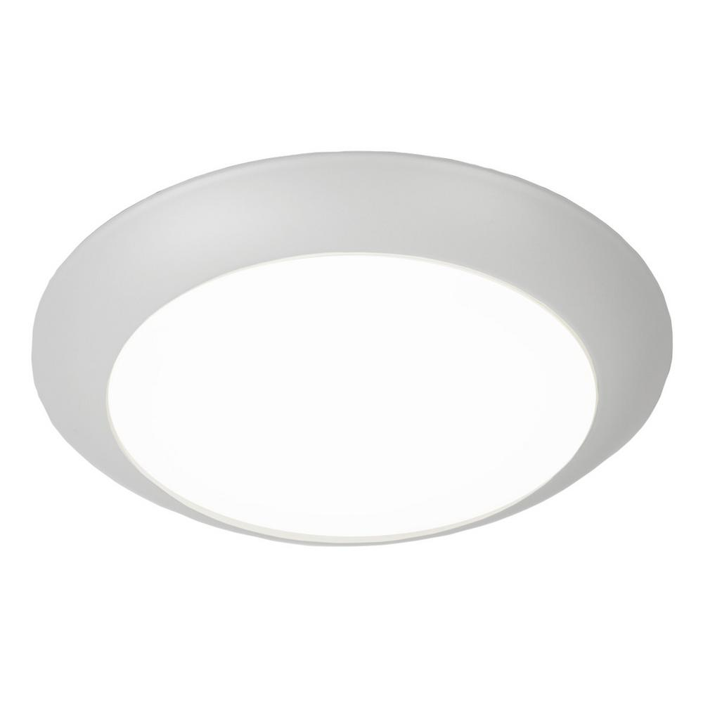 Lamparas Led Watts Y Decor 15 Watt White Integrated Led Ceiling Flush Mount