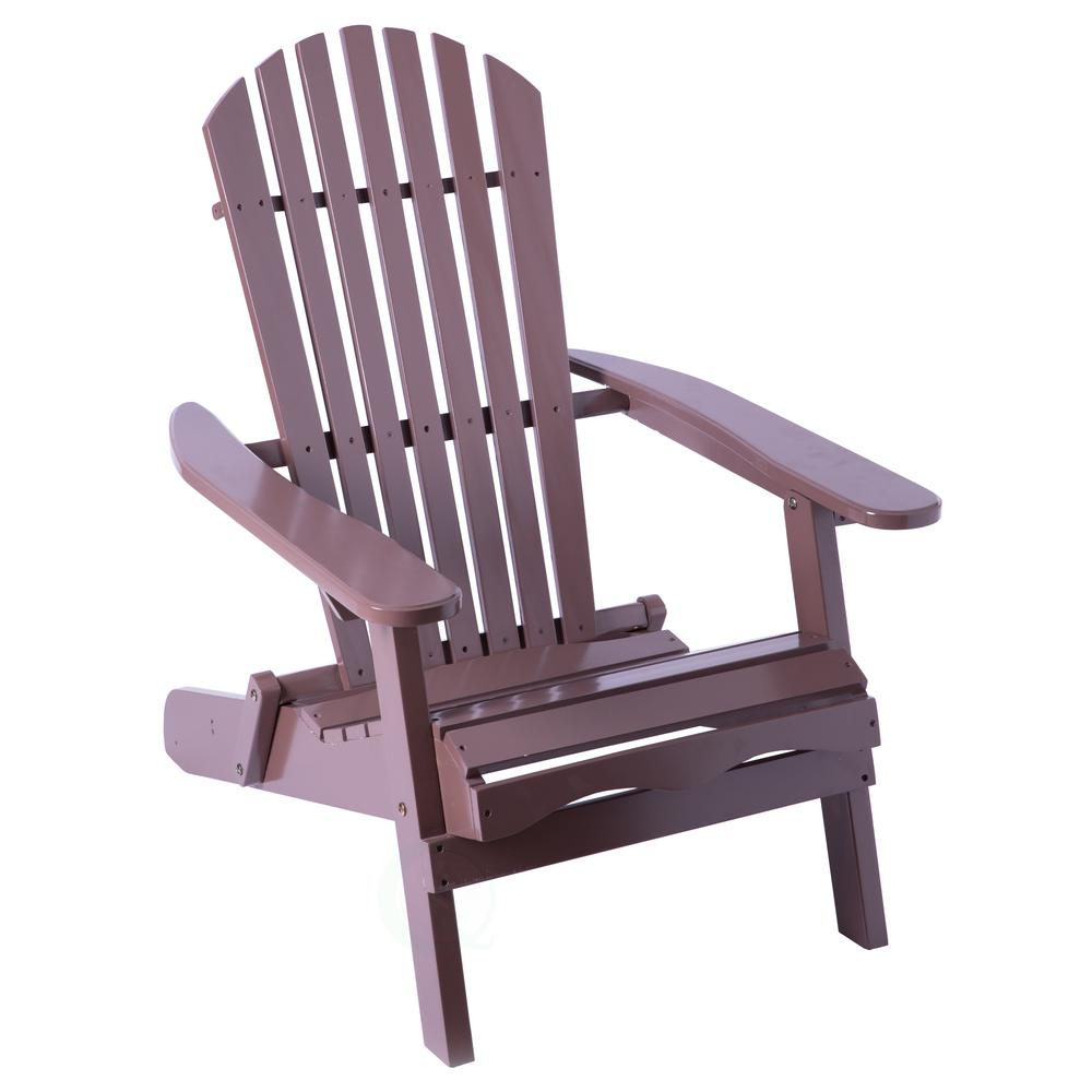 Folding Wooden Chairs Gardenised Brown Folding Wood Adirondack Outdoor Lounge Patio Deck Garden Chair