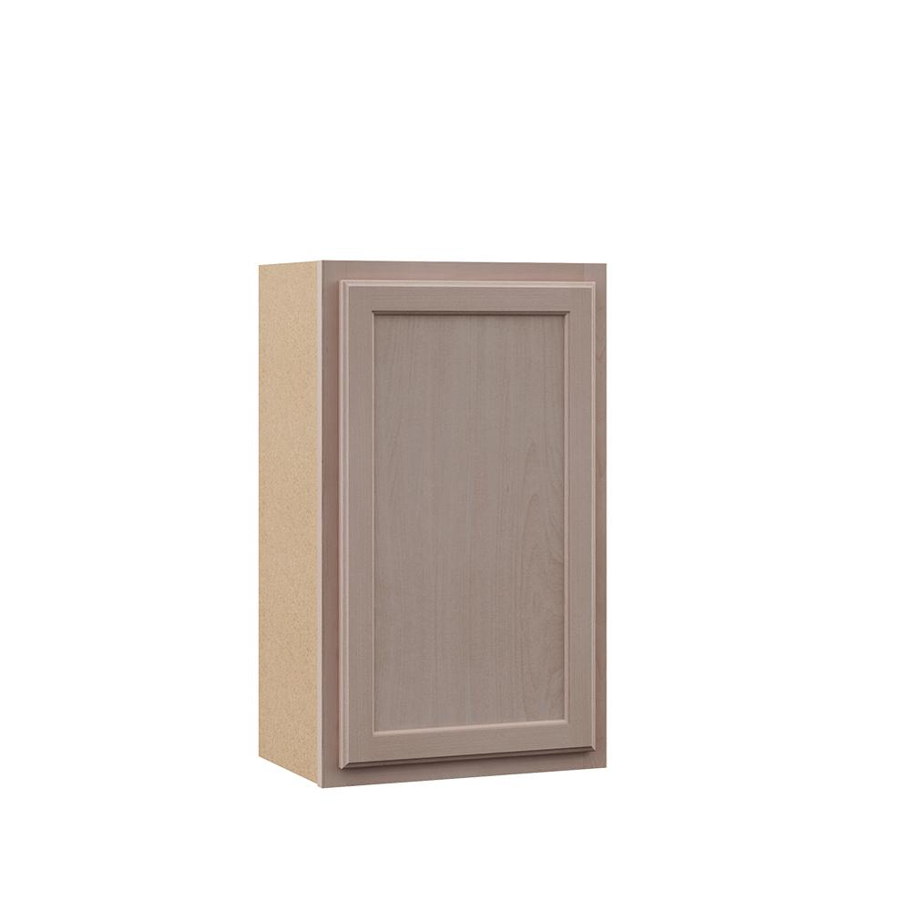 Hampton Bay Hampton Unfinished Assembled 18x30x12 In Wall Kitchen Cabinet In Beech Kw1830 Ufdf The Home Depot
