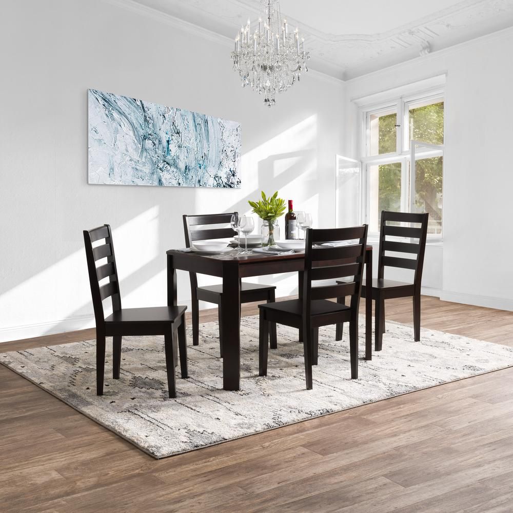 Round Timber Dining Table Corliving Memphis 5 Piece Mahogany Solid Hardwood Dining Table And