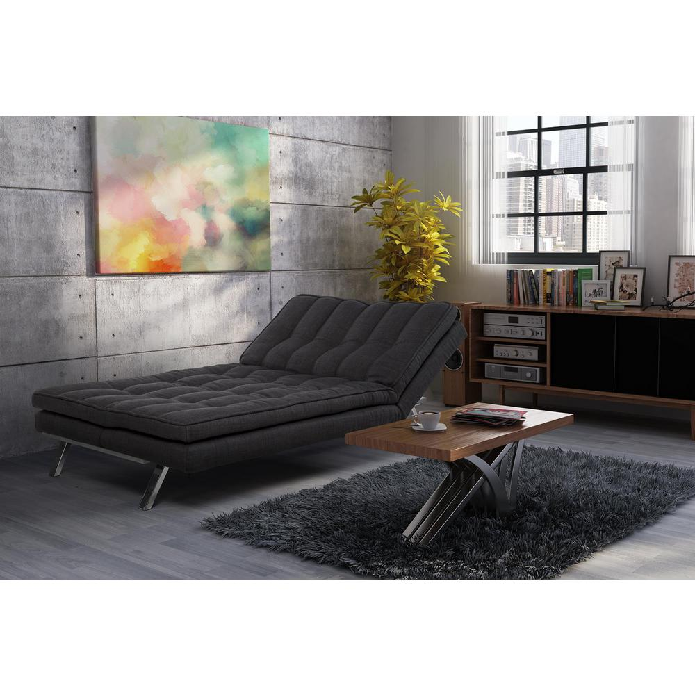 Futon Convertible 1 Place Dhp Madison Dark Gray Futon 2084427 The Home Depot