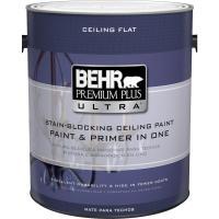 BEHR Premium Plus Ultra 1 gal. Ultra Pure White Ceiling ...