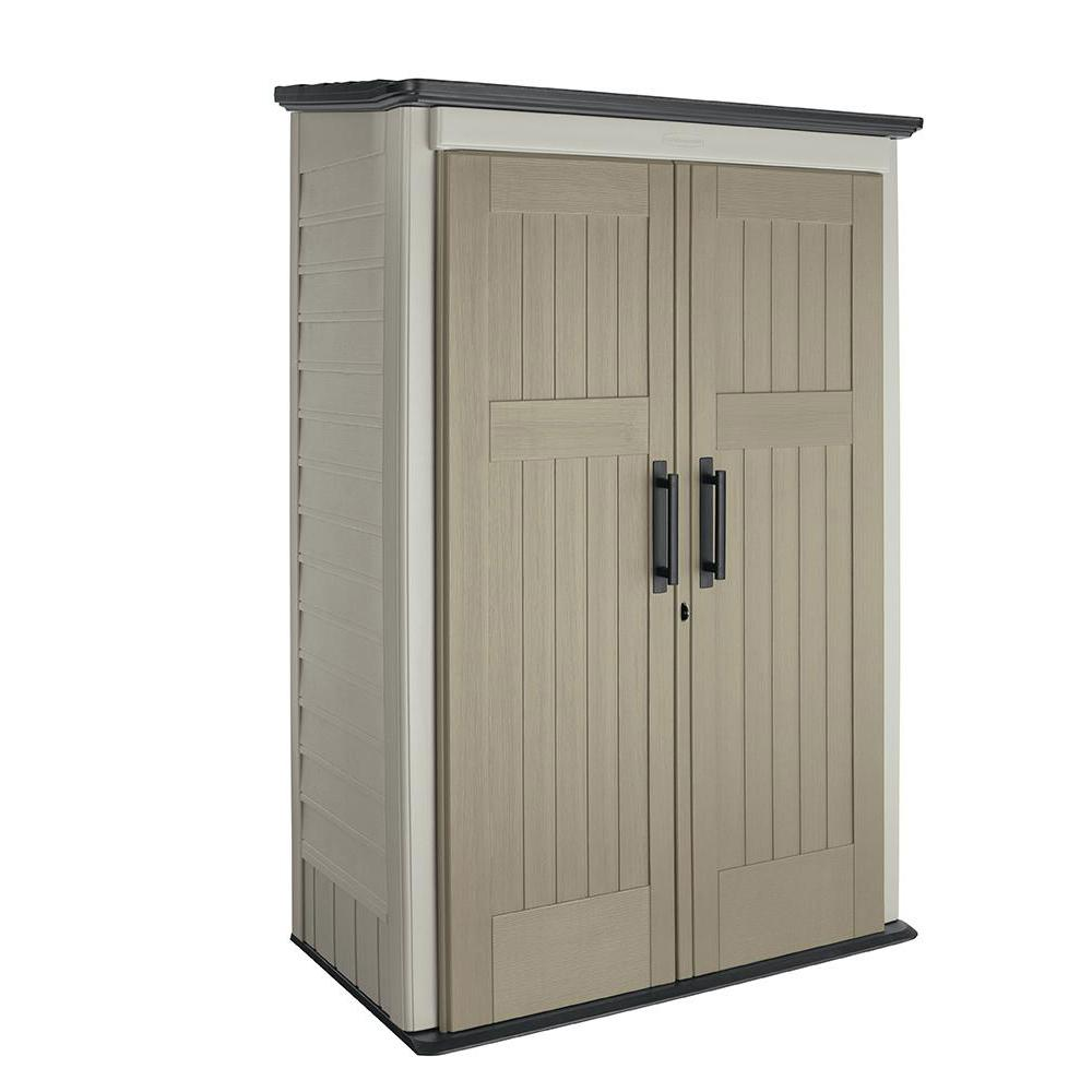 Home Depot Sheds For Sale Rubbermaid Big Max 2 Ft 6 In X 4 Ft 3 In Large Vertical Resin Storage Shed