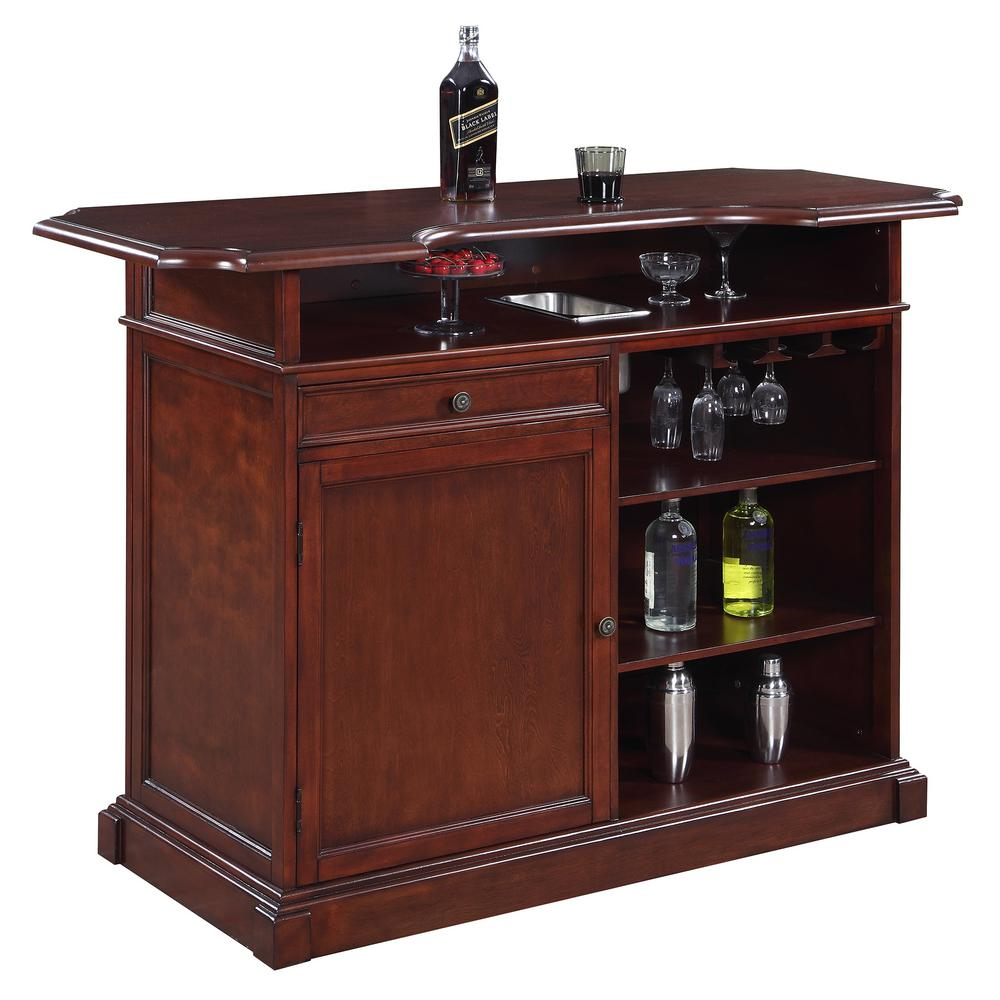 Home Bar Furniture Hathaway Ridgeline 5 Ft Home Bar Set W Storage
