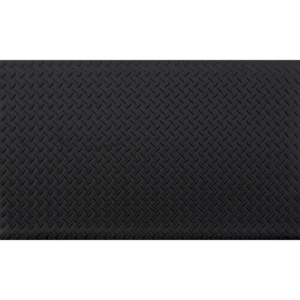 Commercial Rugs Trafficmaster Black 24 In X 36 In Anti Fatigue Vinyl Foam Commercial Mat