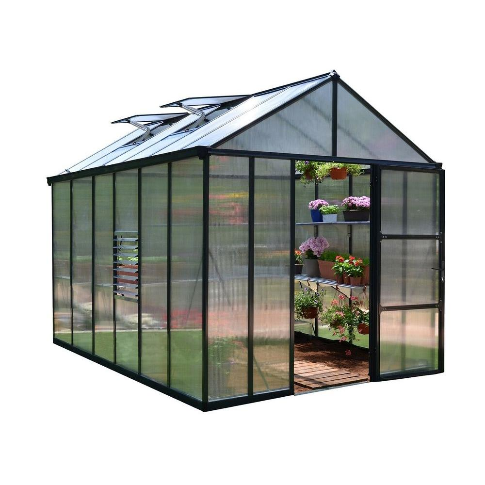 Serre 8x10 Palram Premium Class 8 Ft X 12 Ft Glory Greenhouse