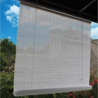 36 in. W x 72 in. L White Exterior Roll Up Patio Sun Shade ...