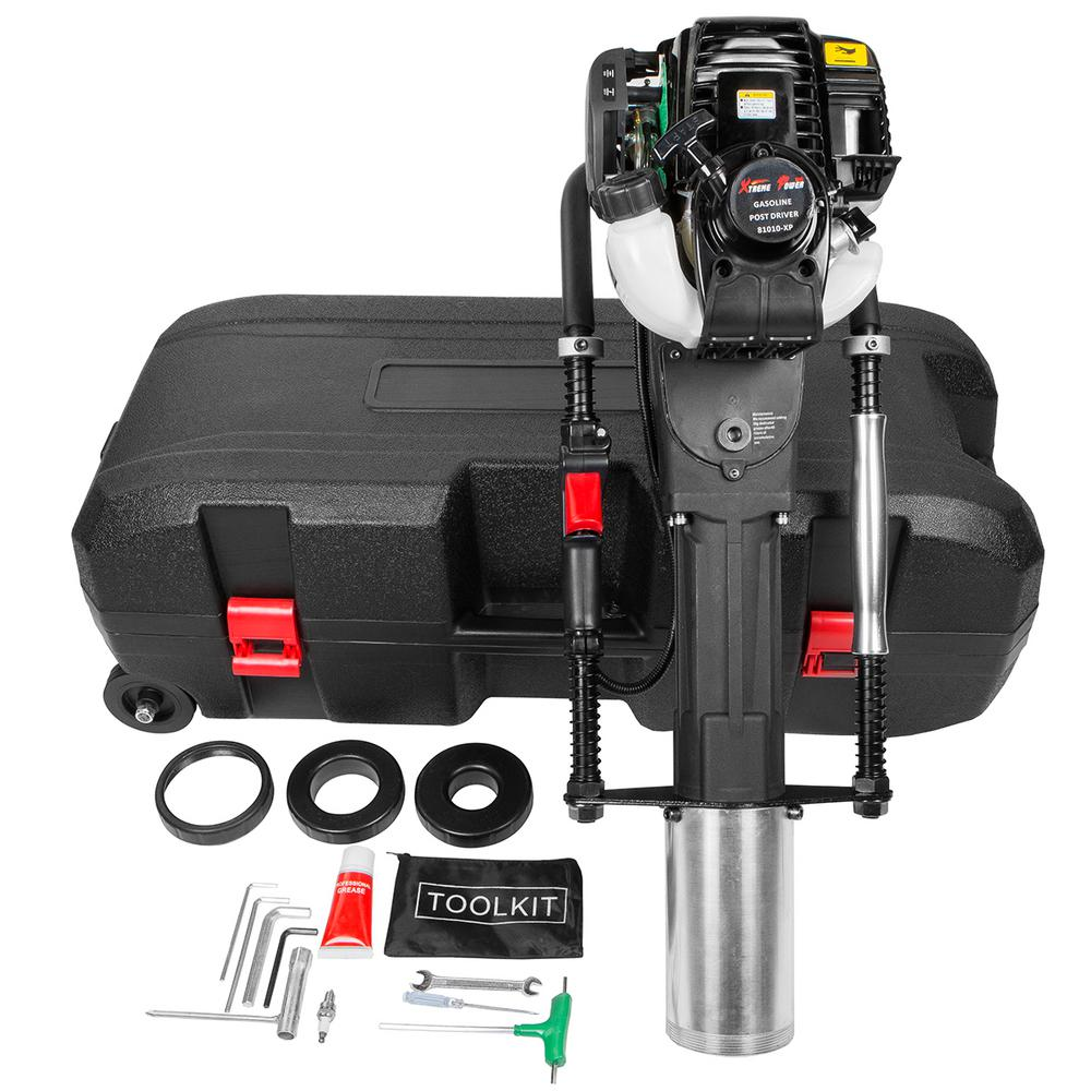 Post Pounder Rental Home Depot Xtremepowerus 37 7 Cc Gas Powered T Post Driver With Toolkit And Storage Case