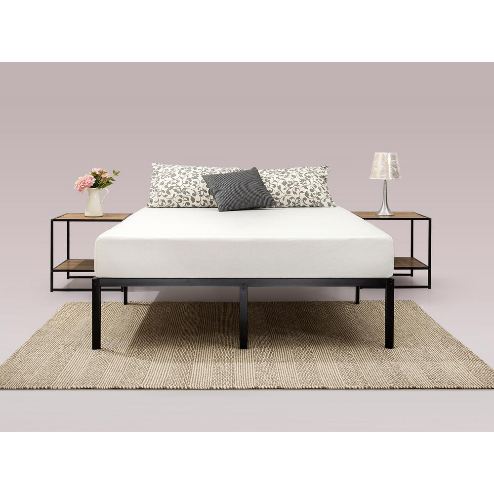 Mattress Platform Zinus Yelena 14 Inch Classic Metal Platform Bed Frame With Steel Slat Support Queen