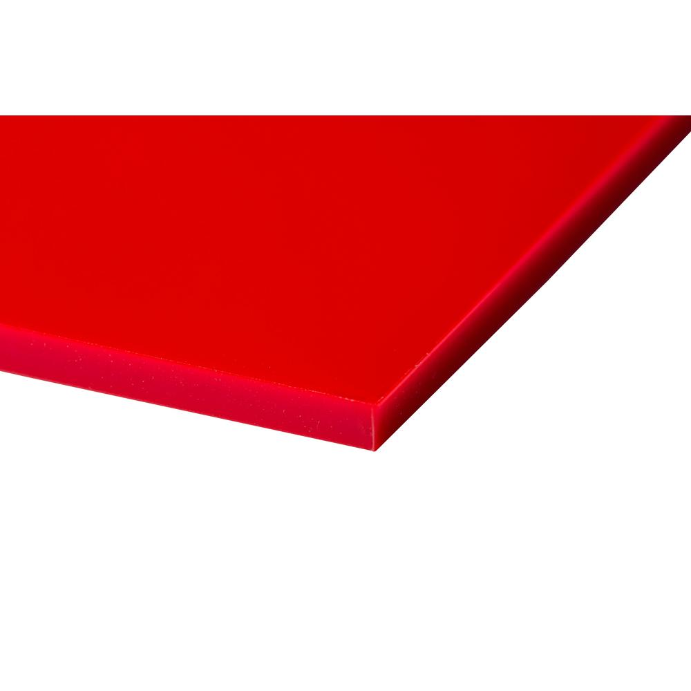 Plexi Glas Plexiglas 24 In. X 48 In. X 0.118 In. Red Acrylic Sheet (4