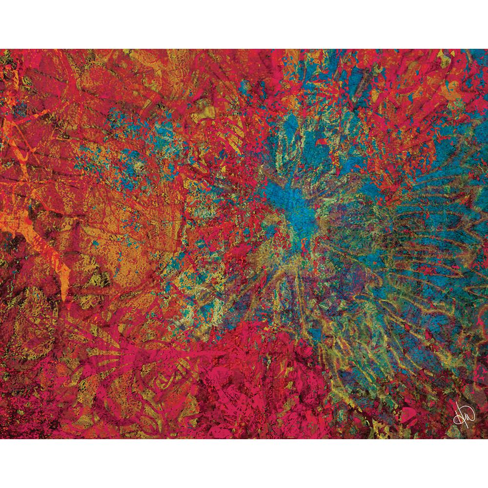 Abstract Art Prints On Canvas Creative Gallery 16 In X 20 In Scarlet Corneal Burst Abstract Acrylic Wall Art Print