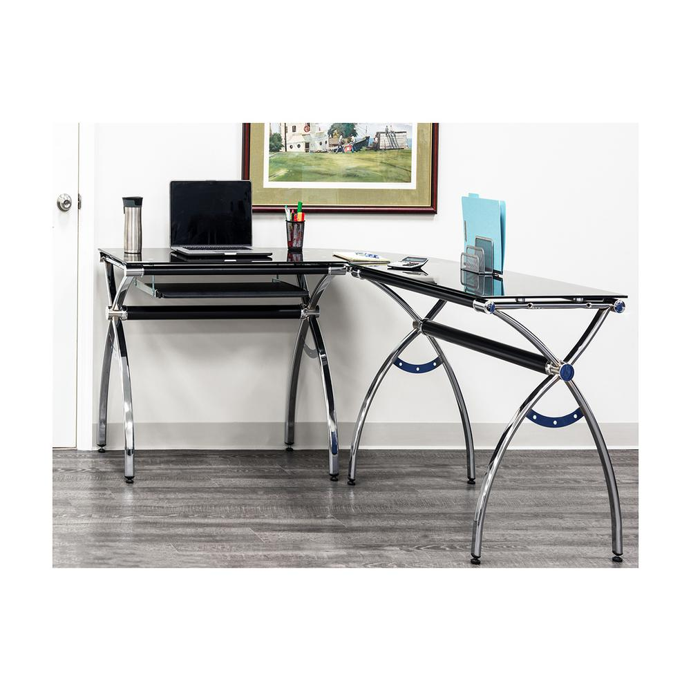 Fullsize Of Glass Corner Desk