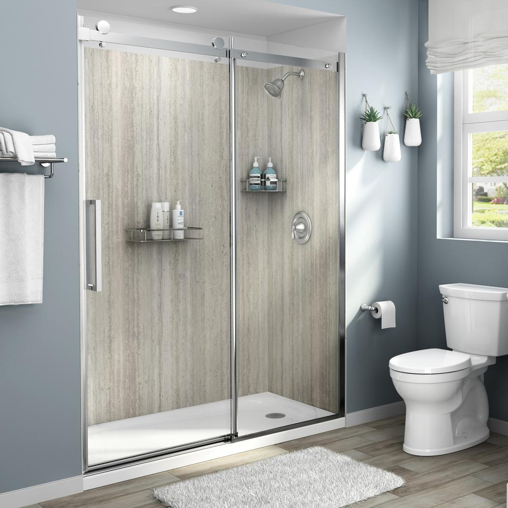 Laminate Shower Walls Surrounds Showers The Home Depot