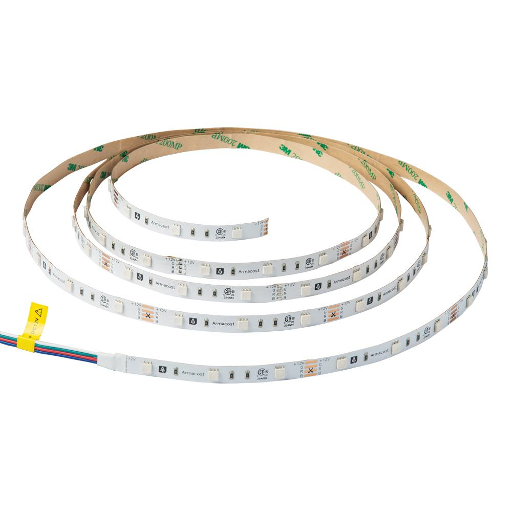 Led Light Strips At Home Depot Armacost Lighting 8 Ft Led Rgb Color Changing Tape Light