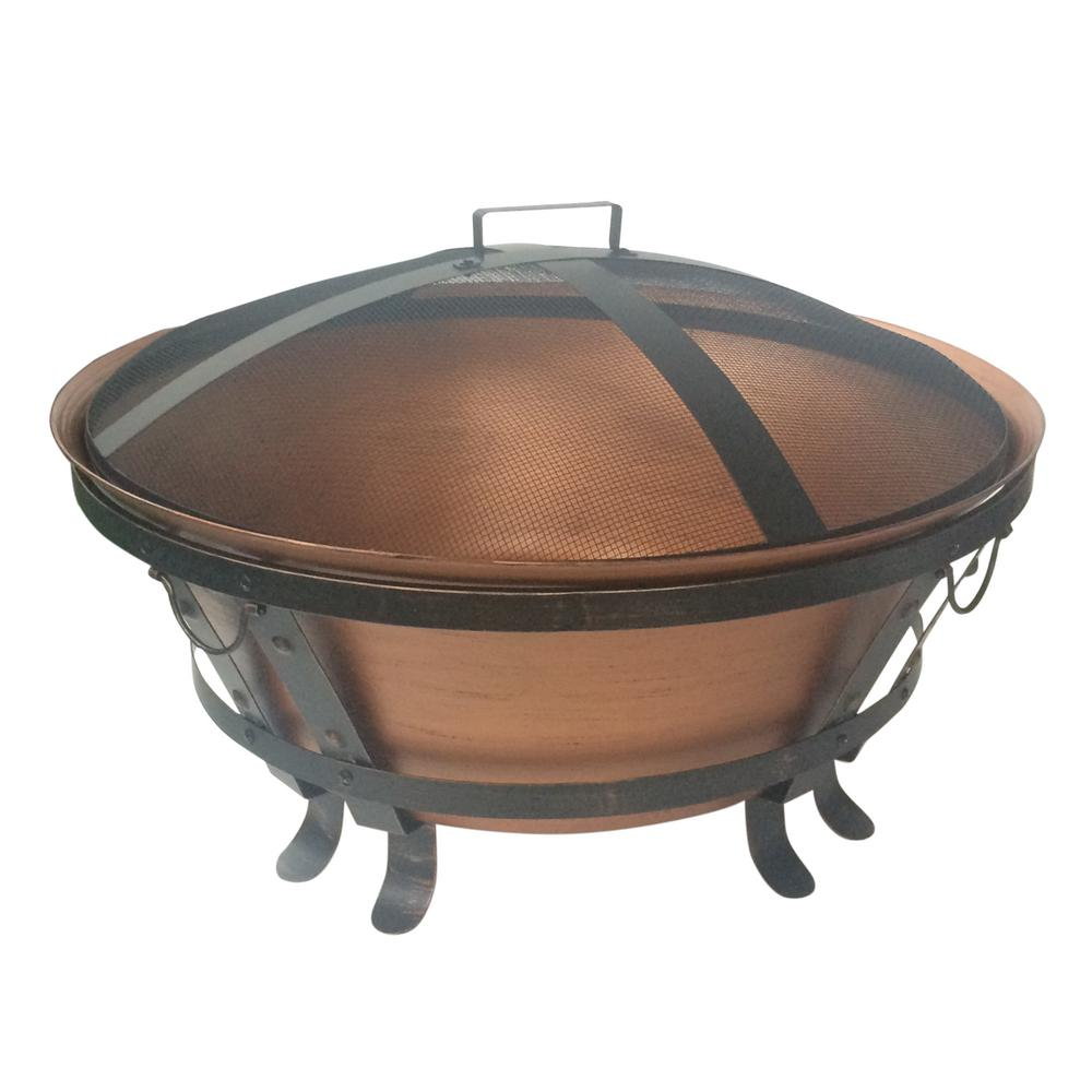 Home Depot Fire Pit Hampton Bay 34 In Whitlock Cast Cauldron Fire Pit