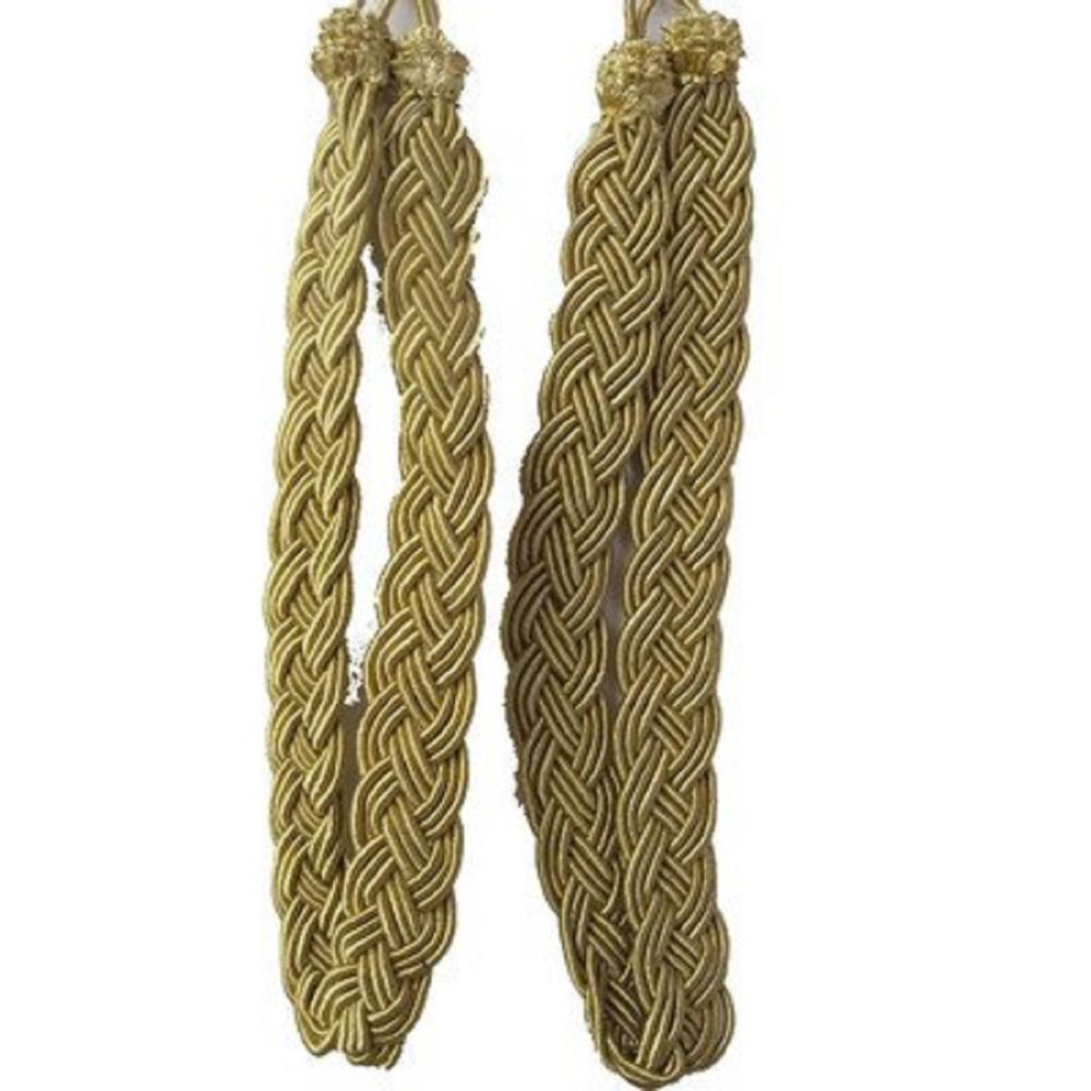 Rope Curtain Vintiquewise Pair Of Gold Rope Curtain Tie Back