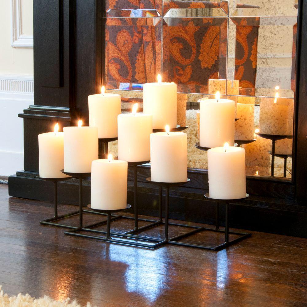 Candles For Fireplace Insert Southern Enterprises 21 5 In 9 Candle Candelabra Free Standing