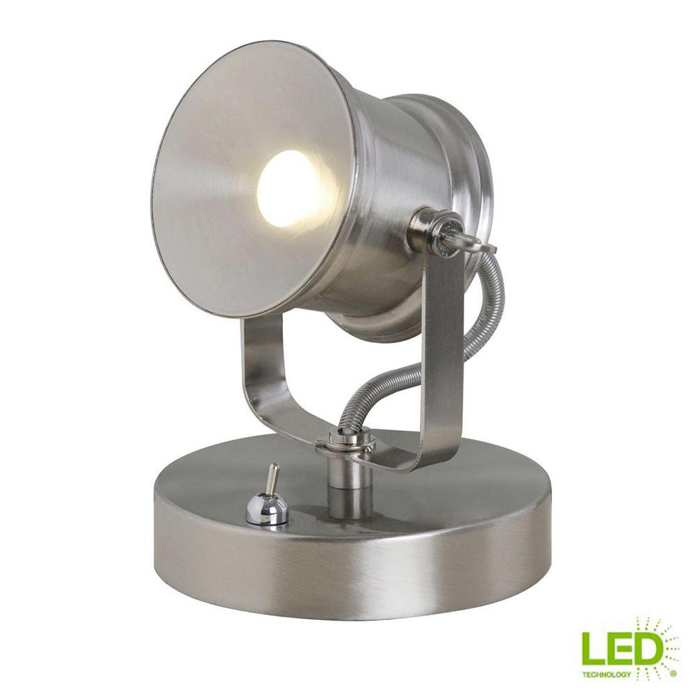Spotlight Lamp Details About Spotlight Desk Lamp Brushed Nickel Integrated Led Table Lamps Lighting Style