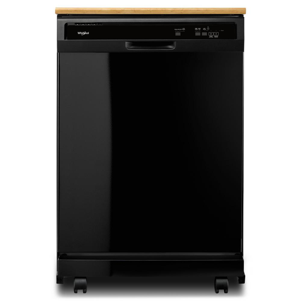18 Portable Dishwasher Canada Whirlpool Front Control Heavy Duty Portable Dishwasher In Black With 1 Hour Wash Cycle And 12 Place Settings 64 Dba
