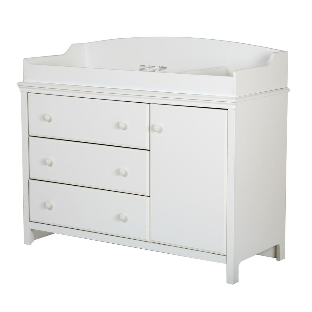South Shore Cotton Candy 3 Drawer Pure White Changing