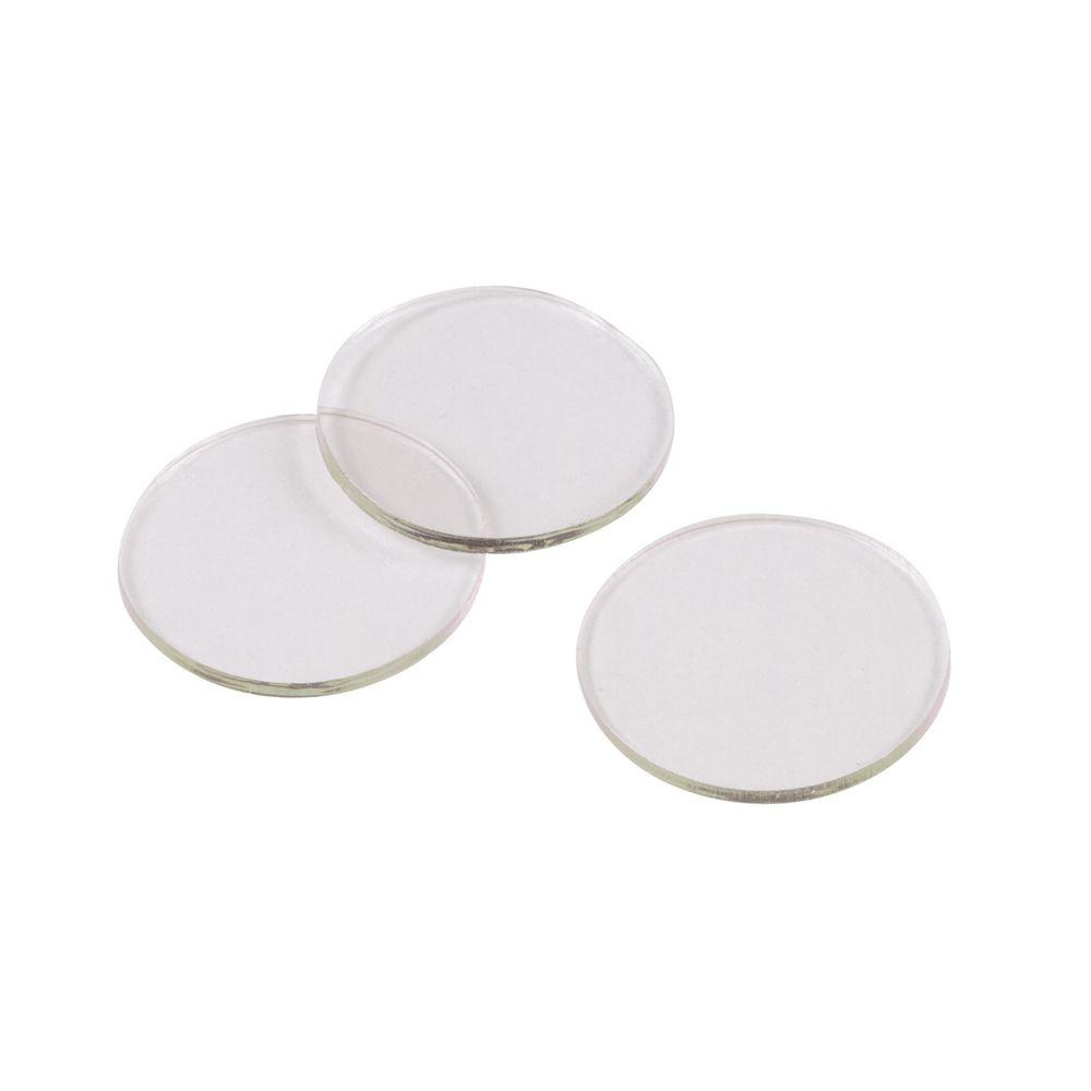 Round Table Tops Shepherd 3 4 In Clear Vinyl Non Adhesive Discs For Glass Surfaces 10 Per Pack