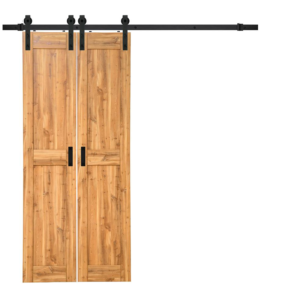 Barn Doors For Homes 18 In X 84 In Pine Duplex Mdf Sliding Barn Door With Hardware Kit