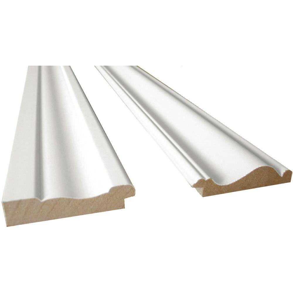 Moulding Trim Cape Cod 8 Ft White Mdf Base Moulding And Chair Rail Trim Kit 2