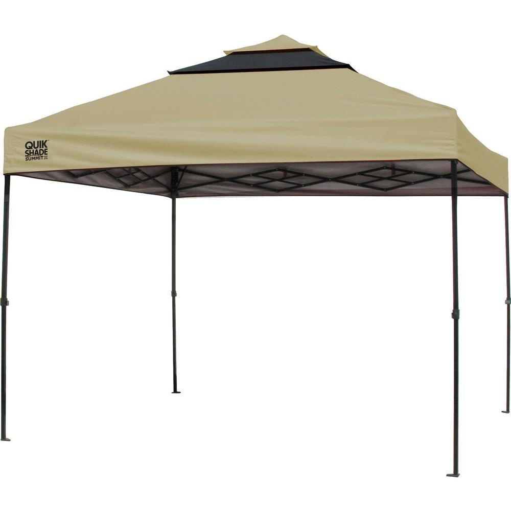 Pop Up Canopy Quik Shade Sx100 10 Ft X 10 Ft Taupe Graphite Instant Canopy