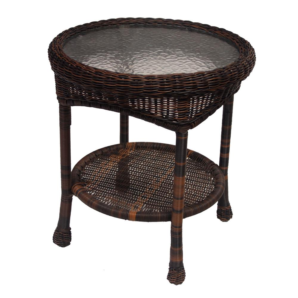 Coffee And Side Tables Coffee Round Wicker Outdoor Side Table