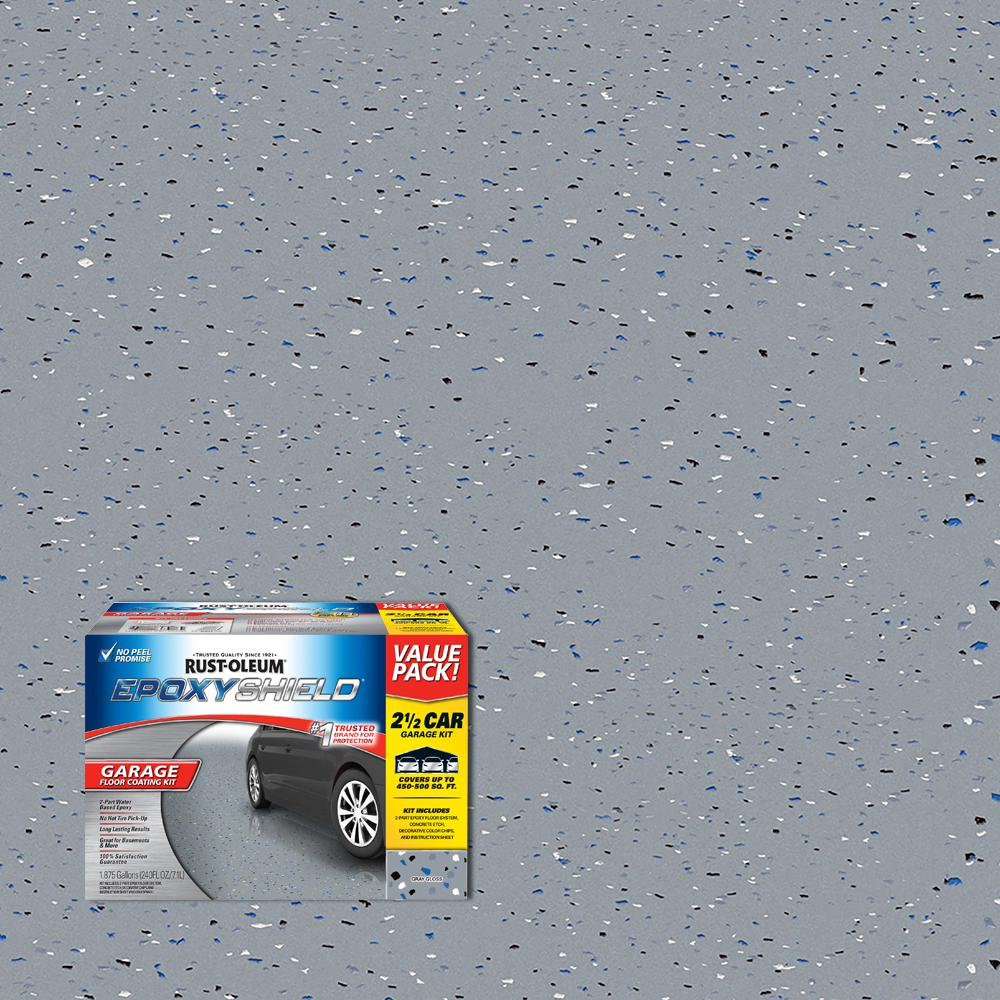 Epoxy Garage Floor Toronto 240 Oz Gray High Gloss 2 5 Car Garage Floor Kit