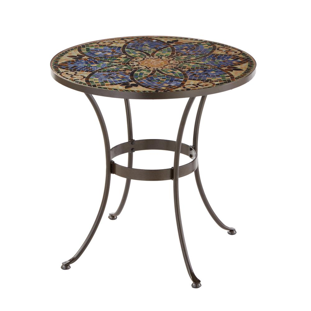 Chaise Metal Bistro Hampton Bay Glass Mosaic Art 28 In Outdoor Bistro Table